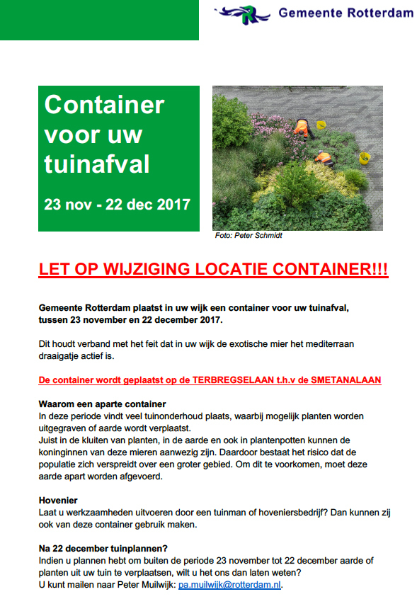 Container tuinafval flyer 14 nov 2017